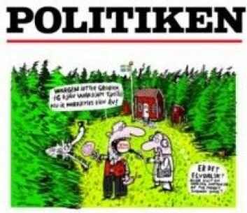 Illustrasjon til artikkel om elvdalsk i Politiken, 3. mai 2015.