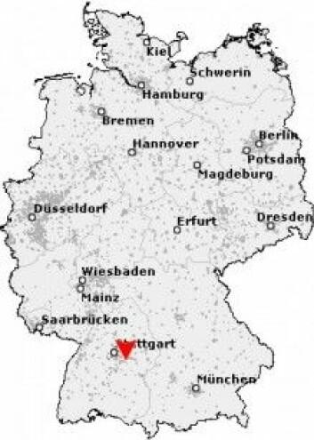 Holzmaden. (Kart: postleitzahl.de)