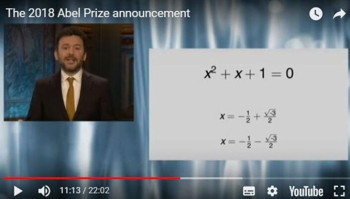 """Kvadratroten av –3 meg her, og kvadratroten av -3 meg der. (Skjermdump: Fra <a href=""""http://www.abelprisen.no/artikkel/vis.html?tid=73004"""">abelprisen.no</a>)"""