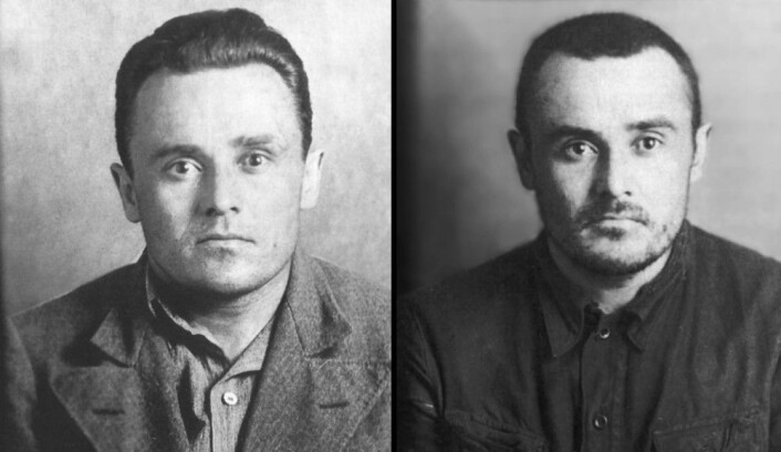 Påkjenning i Stalins fangeleir: Sergej Koroljov kort etter arrestasjonen i 1938 (t.v) og etter to år i fangeleiren. (Foto: Sovjet-arkivene)