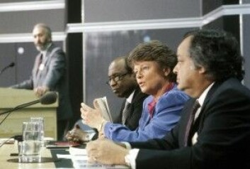 "Gro Harlem Brundtland la frem miljørapporten ""Our Common Future""i London i 1987. Carlo Aall mener den var grunnleggende feig. (Foto: Henrik Laurvik / NTB scanpix)"