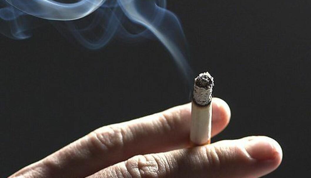 Blant menn er det 10 prosent som røyker av og til. Blant kvinner er det 6 prosent. Colourbox