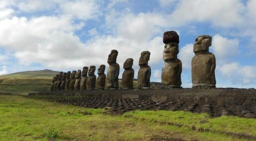Hvordan klarte folk på Påskeøya å plassere 12 tonn tunge hatter på toppen av statuene?