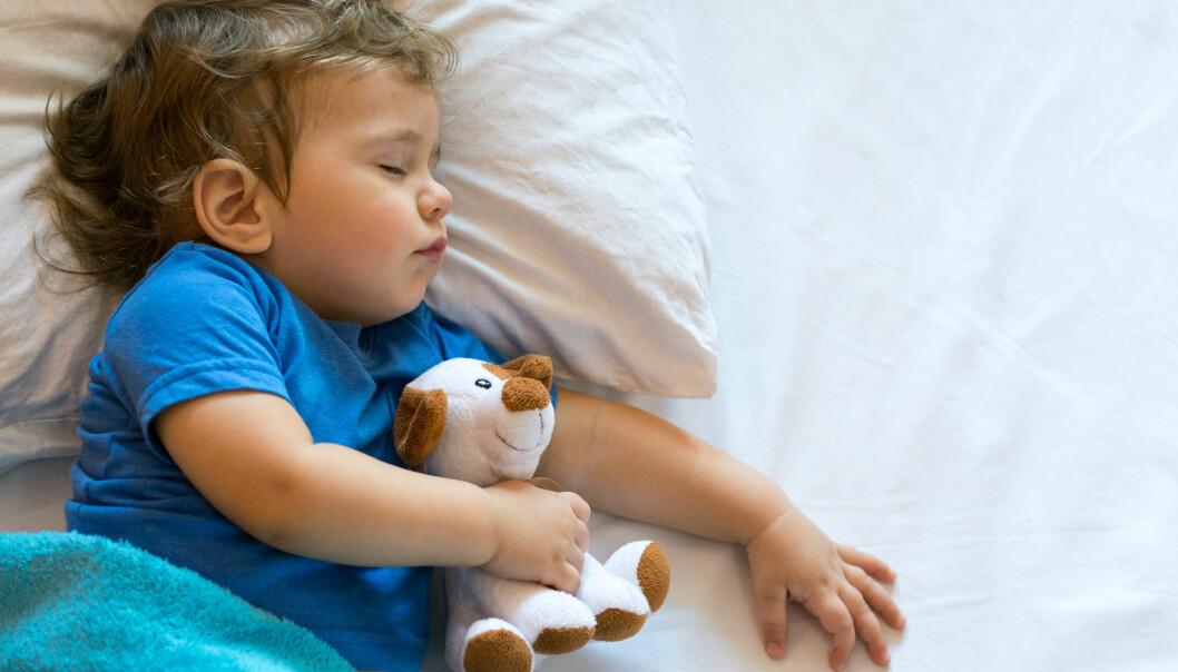 I løpet av de første leveårene våre, utvikler hukommelsen seg veldig fort. Derfor vil forskerne se inne i hodene på toåringer, mens barna både sover OG husker. (Illustrasjonsfoto: Shutterstock / NTB Scanpix)