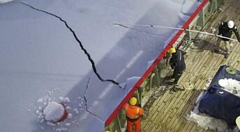 Reddet utstyr i Antarktis og fikk opp uventede data