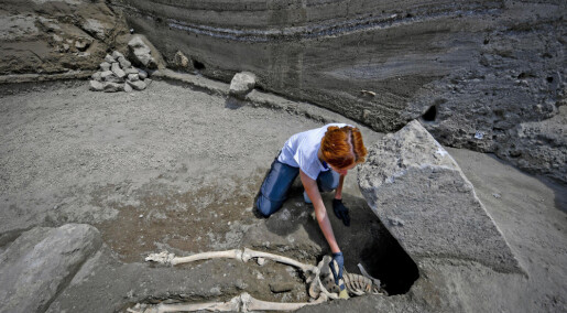 Han flyktet fra den vulkanske asken som gravla Pompeii, men ble knust av en stein