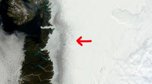 Mørkere is på Grønland skyldes alger og smuss