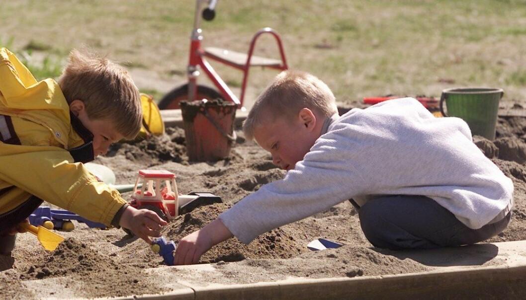 I en årrekke har det vært underskudd på barnehagelærere. Framover blir det for mange av dem. Disse ungene gikk for noen år siden i Stabburet barnehage på Lade i Trondheim.  (Illustrasjonsfoto: Gorm Kallestad, NTB scanpix)