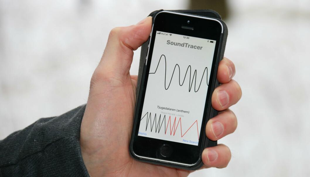 En app utviklet ved Universitetet i Oslo lar deg se en kurve som representerer dine bevegelser og finner musikk som passer. Tanken bak er at appen skal gi folk en ny vei inn i de store musikkarkivene til norske biblioteker. (Foto: Toril Haugen)