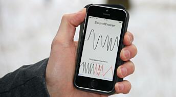 Mobilen finner musikk når du beveger hånden