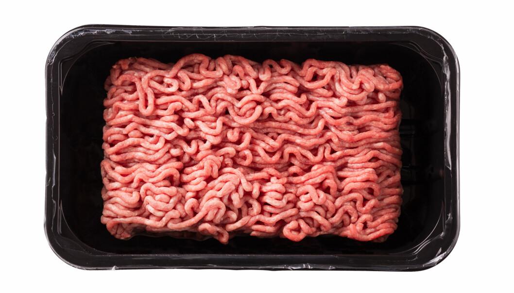 De som produserer kjøttdeig må vite at kjøttet inneholder nøyaktig det som varedeklarasjonen viser. For å måle for eksempel fettinnholdet i kjøttdeigen, kan produsentene benytte seg av infrarødt lys. Nå har forskere og selskapet Prediktor Instruments AS utviklet måleinstrumenter som er enkle å bruke. (Illustrasjonsfoto: Shutterstock / NTB Scanpix)