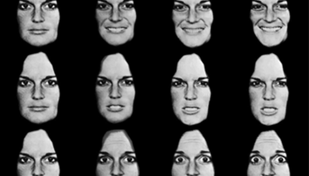 Barn som opplever mye krangling hjemme, har en tendens til å tolke nøytrale ansiktsuttrykk som sinte, ifølge amerikansk studie. Psykolog Peder Kjøs bekrefter at mange barn med uforutsigbare foreldre ofte kan tolke andre i verste mening.  (Foto: Journal of Social and Personal Relationships)