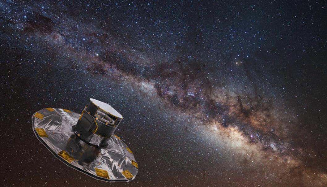 Romteleskopet Gaia har sett 1,7 milliarder stjerner i løpet av noen få år. (Illustrasjon: ESA)