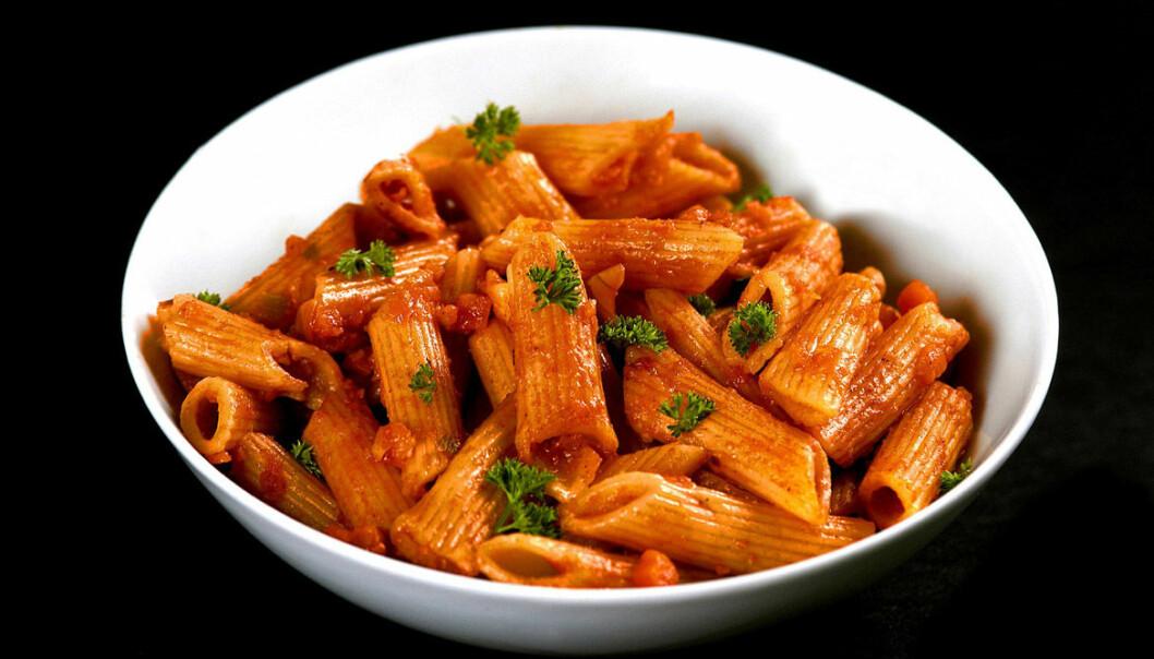Britiske kvinner som spiste mer pasta enn andre, kom tidligere i overgangsalderen enn andre med mer moderat pastainntak.  (Foto: Colourbox)