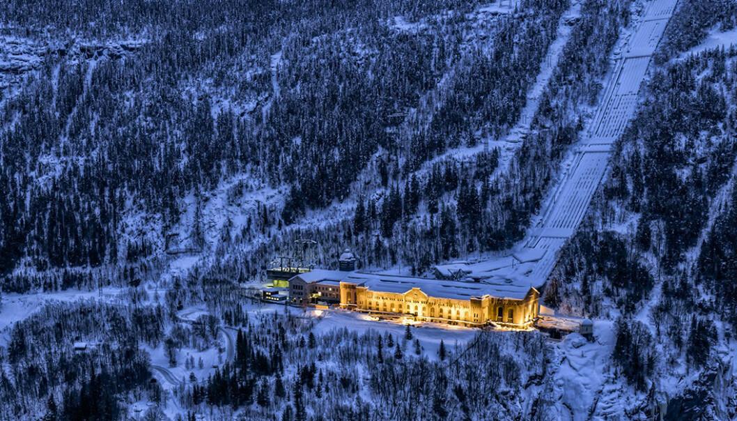 Vemork kraftstasjon på Rjukan. (Foto: Ian Brodie)