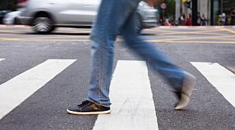Tusenvis av fotgjengere skades årlig i singelulykker