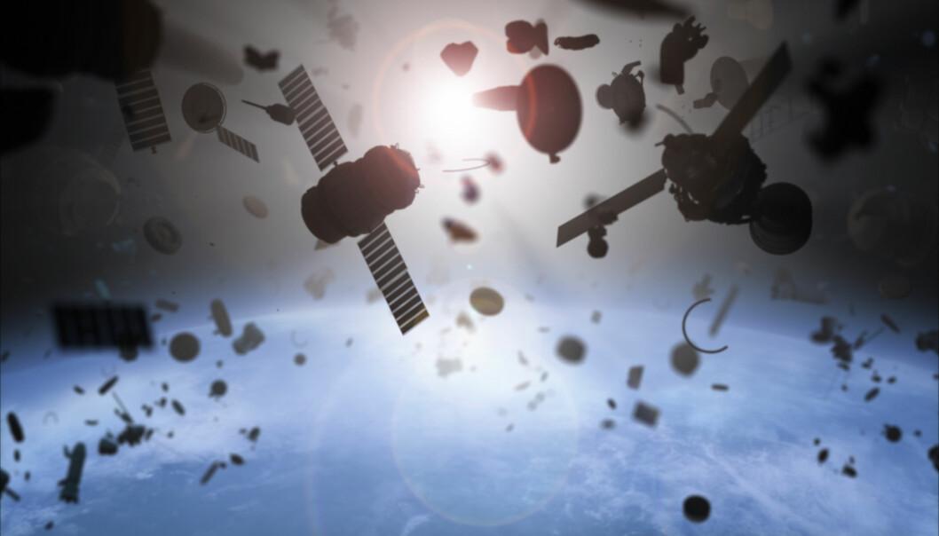 Det er vanskelig for forskere å forutsi hvor og når romsøppelet lander på jorda.  (Foto: Shutterstock / NTB Scanpix)