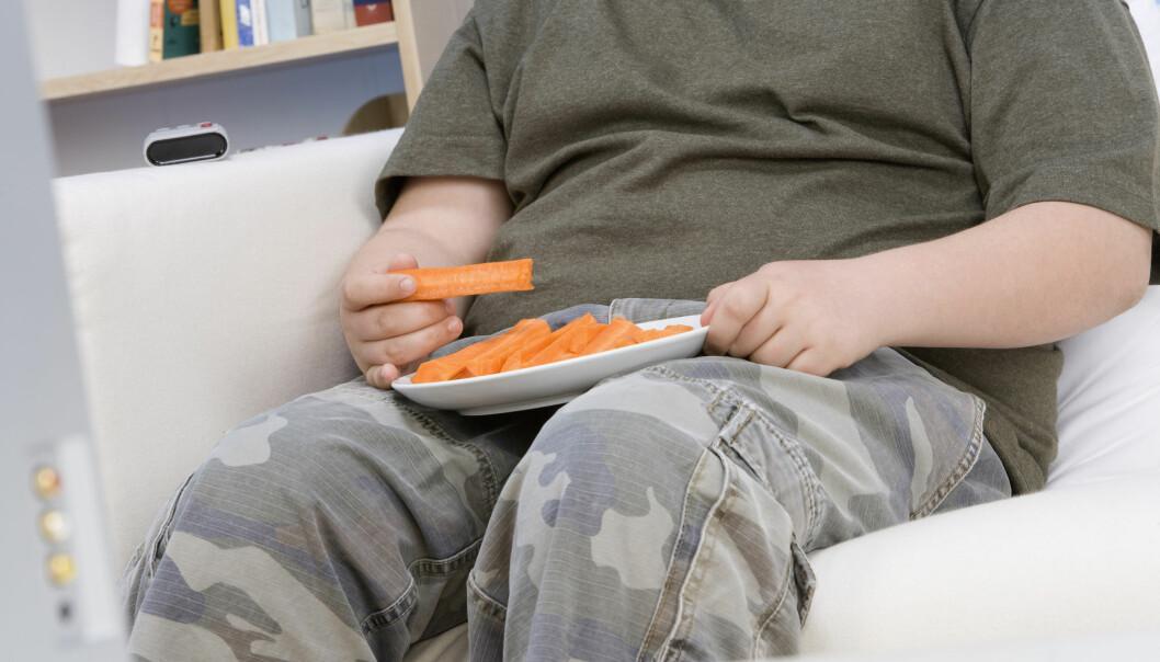 Gutter med fedme spiste mindre grønnsaker enn jenter, ifølge en norsk undersøkelse. De hadde også mer skjermtid.  (Foto: sirtravelalot / Shutterstock / NTB scanpix)