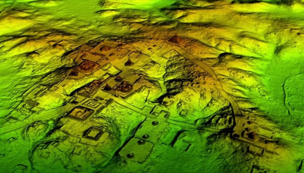 Forskere har gjort store oppdagelser i Mesoamerika. Blant annet ved hjelp av LiDAR-teknologien, som kan avsløre ruiner under regnskogen.  (Foto: Wild Blue Media/National Geographic)
