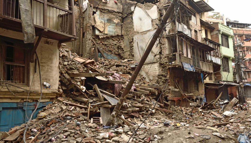 Jordskjelvet i Himalaya førte til store ødeleggelser, og flere tusen omkom i Katmandu og i områdene rundt. Også lenger ned i jorda, skaper slike skjelv dramatikk. (Foto: Colourbox)