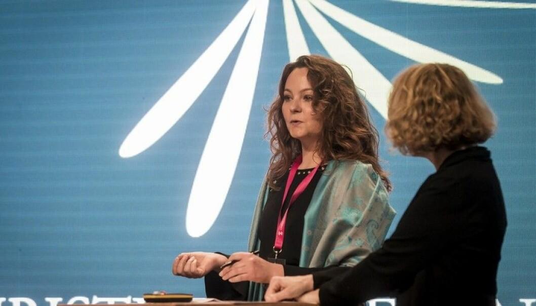 Statssekretær Rebekka Borsch mener man burde snakke om empati og anerkjennelse heller enn toleranse. Og hun mener flere burde ha bedre folkeskikk. (Foto: Tor Farstad)