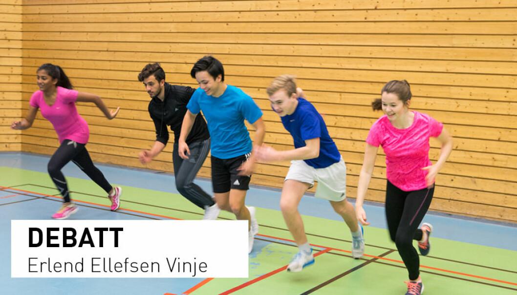 - Det å inspirere til livsvarig bevegelsesglede hos elevene er helt sentralt i formålet med kroppsøvingsfaget, skriver Erlend Ellefsen Vinje. (Foto: Thomas Brun / NTB Scanpix)