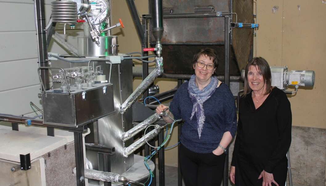 Forskerne Britt Margrethe Emilie Moldestad og Marianne Sørflaten Eikeland ved Høgskolen i Sørøst-Norge har fått 9,9 millioner kroner til å forske på omdanning av biomasse til biodrivstoff.  (Foto: HSN)