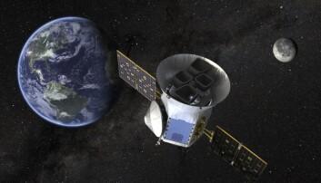 NASAs illustrasjon av satellitten som etter planen skal skytes opp mandag kveld norsk tid. (Foto: NASA via AP, NTB scanpix)