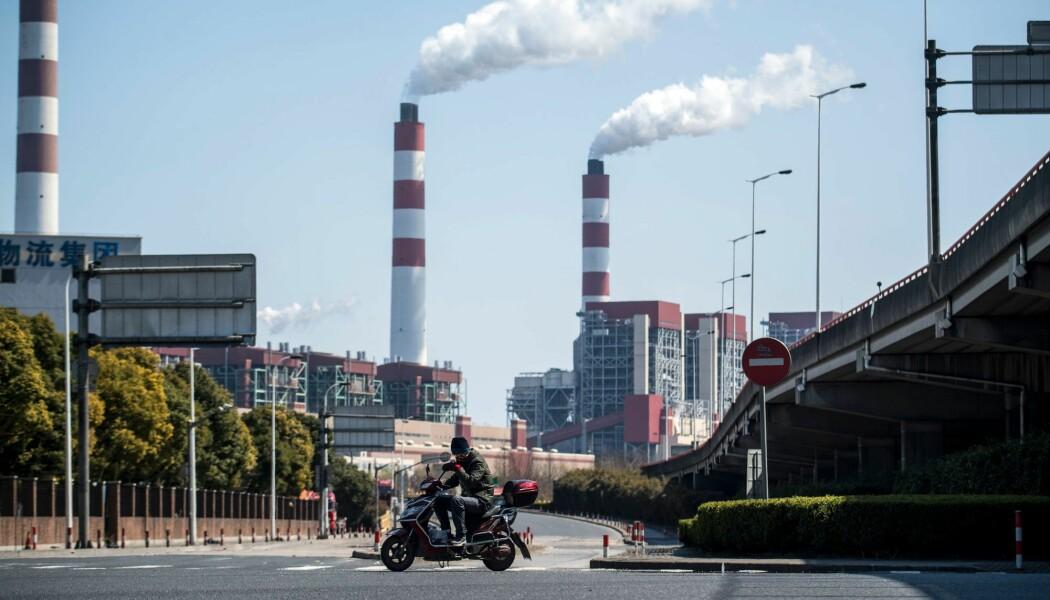 Et kullkraftverk i Shanghai i Kina. (Foto: AFP PHOTO / Johannes EISELE/NTB Scanpix)