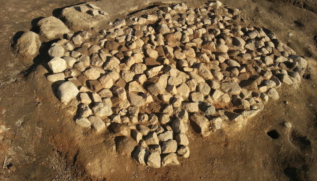 Dette er den utgravde ovnen i Sør-Sverige hvor kornene ble funnet. (Bilde: Mikael Larsson)