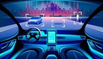 Ole Winther forestiller seg at Google Deepminds teknikk kan brukes i selvkjørende biler, for å forutsi hva andre trafikanter vil foreta seg. (Illustrasjon: Pavel Vinnik / Shutterstock / NTB scanpix )