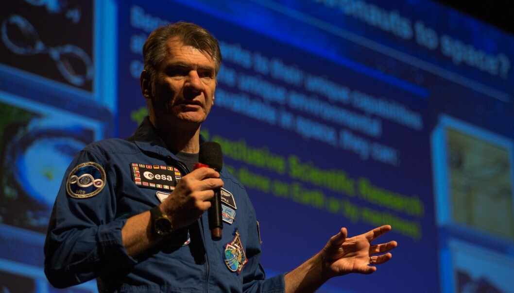 Den italienske astronauten Paolo Nespoli på Spaceport Norway 2018. (Foto: Spaceport Norway / Andrea Rocha)