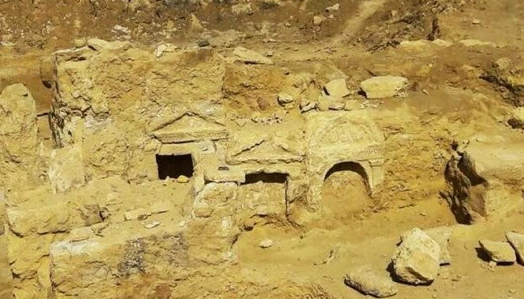 Så langt er bare inngangen til det gresk-romerske tempelet gravd ut.  (Foto: Egypt Ministry of Antiquities)