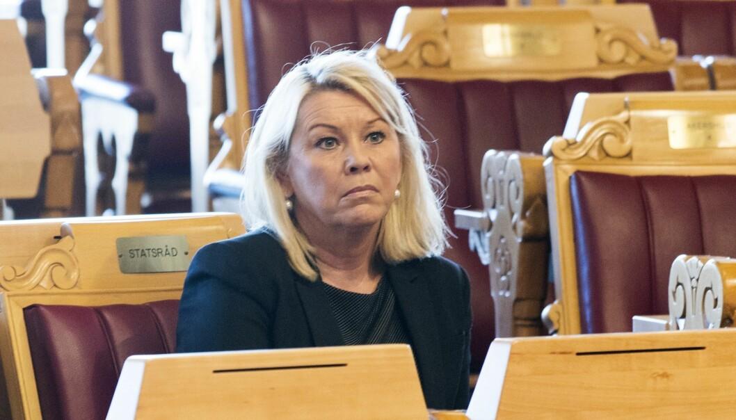 Kommunal- og moderniseringsminister Monica Mæland (H). (Foto: Berit Roald, NTB scanpix)