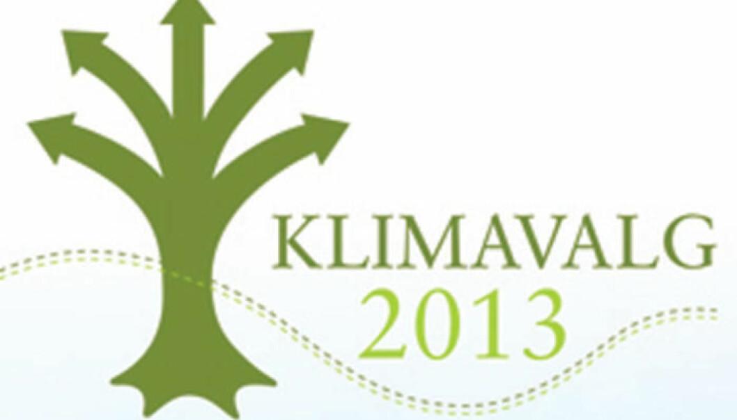 Forskere ved Norut har analysert Klimavalg 2013-kampanjen. (Logo: Klimavalg 2013)