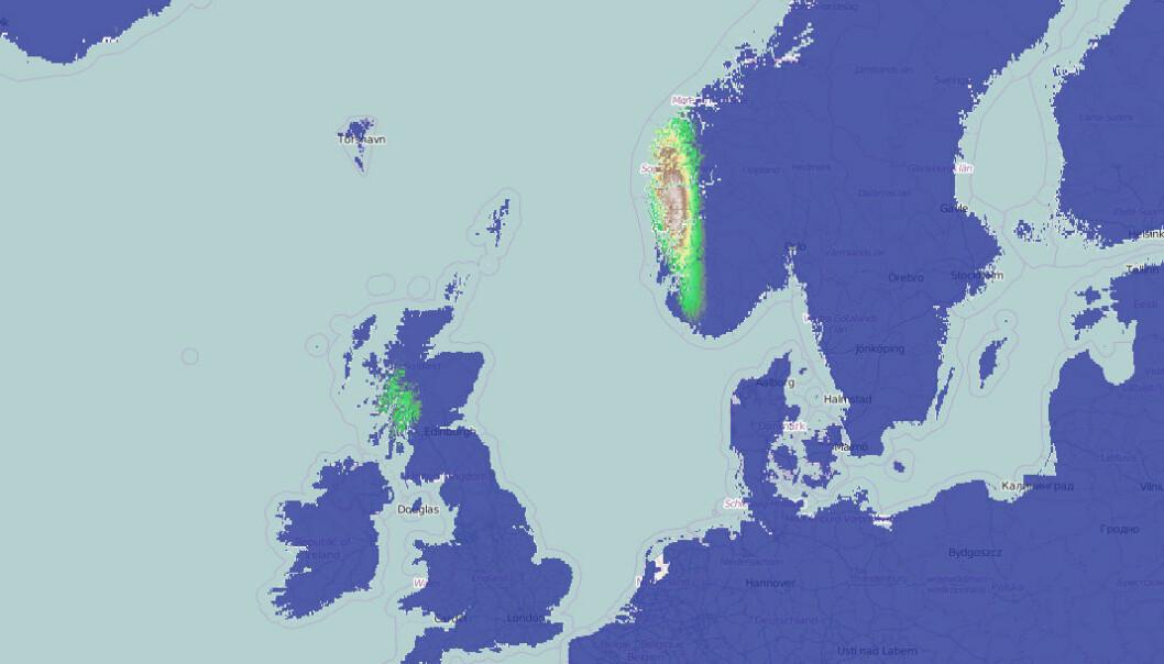 Klimakartet ClimateEx (Climate Explorer) kan vise steder med samme klima eller hvordan klimaet endrer seg – i fortid, nåtid og nær framtid. Du kan også se hvordan temperatur varierer gjennom året for hvert enkelt sted ved å klikke på kartet. (Bilde: Fra nettsiden ClimateEx, Tomasz Stepinski/ClimateEx)