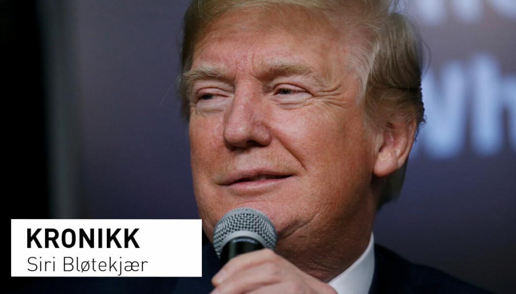 - Med Donald Trump som president i USA, går debatten blant fagfolk høylytt om hvorvidt han er narsissist eller ikke, skriver Siri Bløtekjær. (Foto: Leah Millis / Reuters / NTB Scanpix)