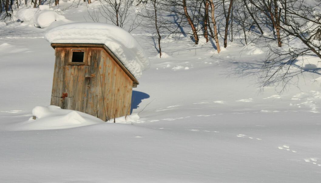 Norske hytter blir stadig mer komfortable, viser ny rapport. På Sjusjøen har bare ti prosent av hyttene utedo.  (Foto: Are G. Nilsen / CC BY-SA 3.0)