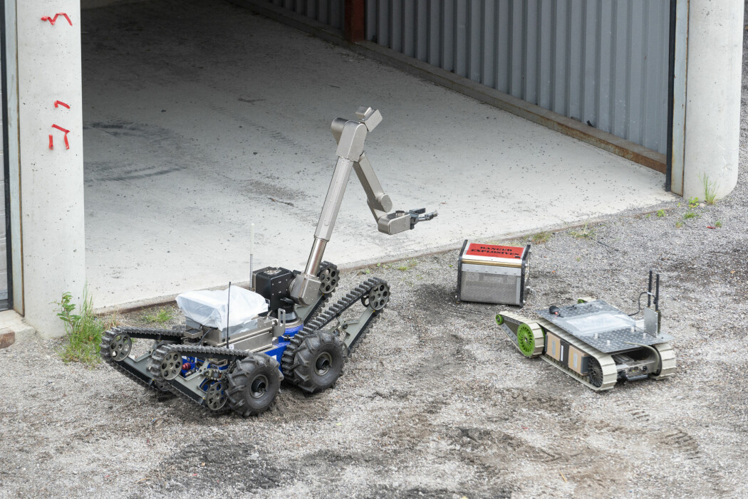 De fire kjøretøyene som ble brukt under eksperimentet på Rena, var alle hyllevare i utgangspunktet, men er blitt utstyrt med en rekke spesialtilpasninger. (Foto: Christian Tandberg / FFI)