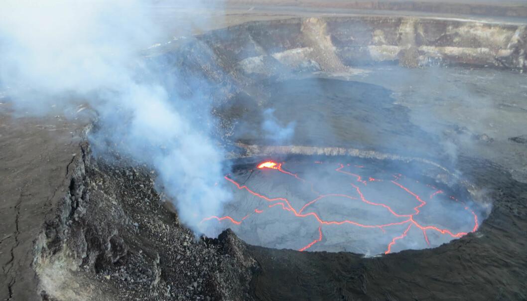 Kva gjer at folk buset seg ein stad der spørsmålet ikkje er om katastrofen skjer, men når? (Foto: U.S. Geological Survey, Hawaiian Volcano Observatory)