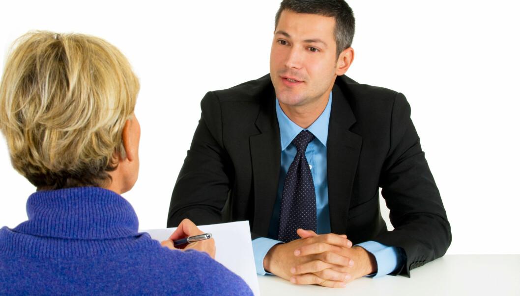 Hva kan du gjøre for å gi best mulig inntrykk på jobbintervju? (Foto: Colourbox)