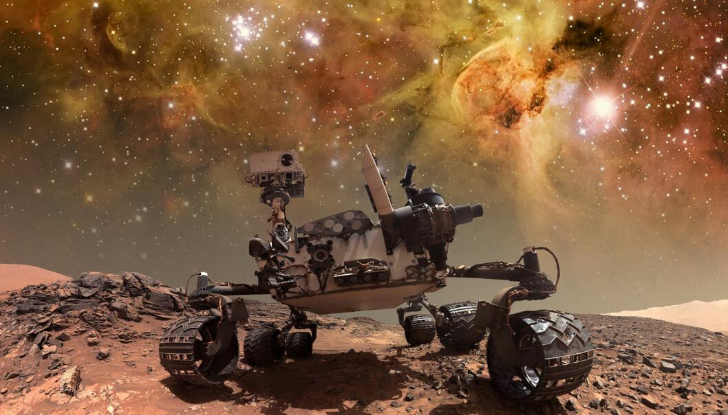 Ingen av Marsrobotene har funnet sikre tegn til liv på den røde planeten. Hvordan takler vi det den dagen de gjør det?  (Illustrasjon: NASA images / Shutterstock / NTB scanpix)