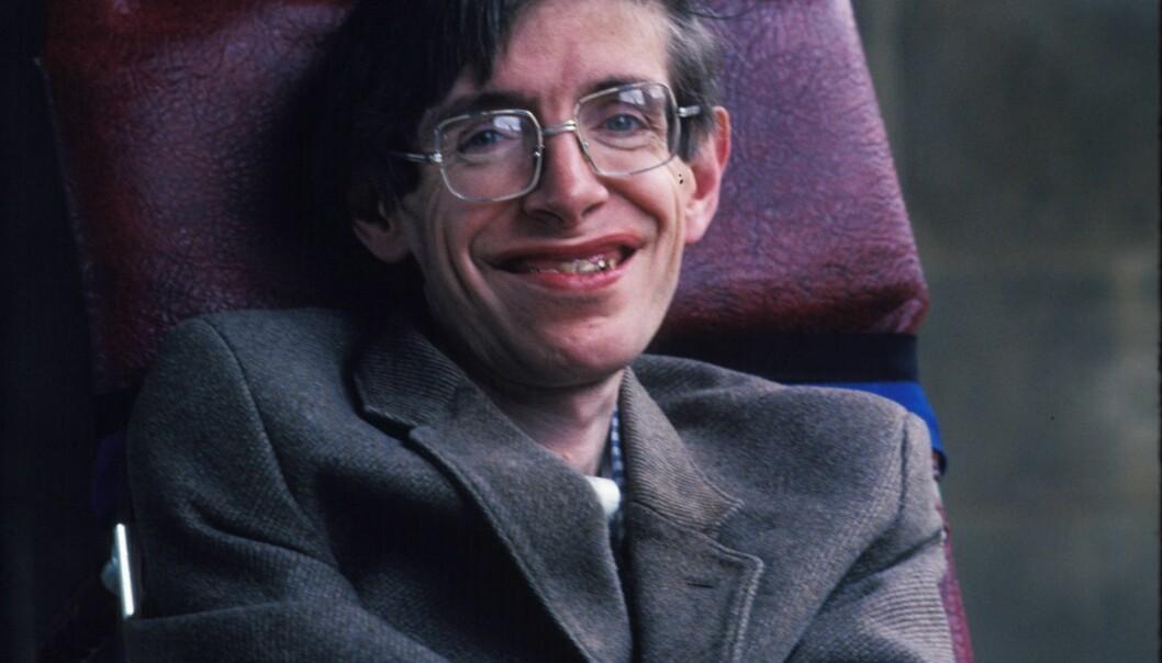 Stephen Hawking fikk diagnosen ALS allerede som 21-åring. I natt døde han. (Foto: Stephen Shames, Polaris, NTB scanpix)
