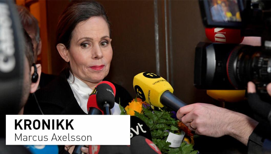 Svenska Akademiens faste sekretær Sara Danius var en av de som måtte forlate institusjonen som deler ut Nobels litteraturpris. (Foto: Jonas Ekströmer / NTB Scanpix)