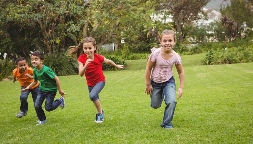 Barna var aktive i en time hver dag. Likevel hadde aktiviteten tilsynelatende lite å si for skoleprestasjonene deres. (Illustrasjonsfoto: Shutterstock / NTB Scanpix)