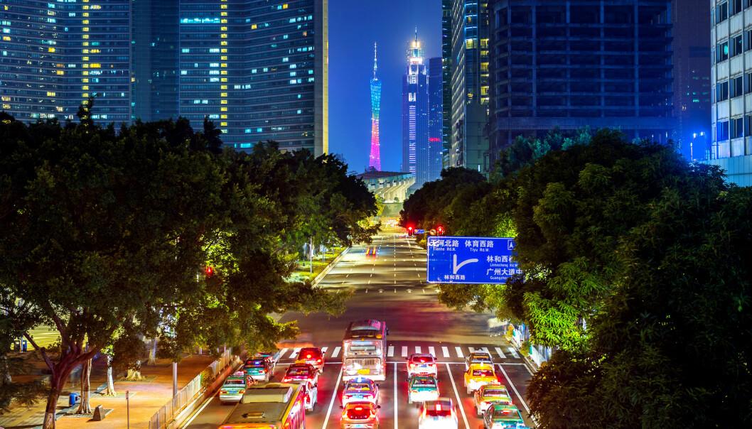 Guangzhou er en av syv kinesiske byer som har innført en kvote på bileierskap. (Foto: Colourbox)