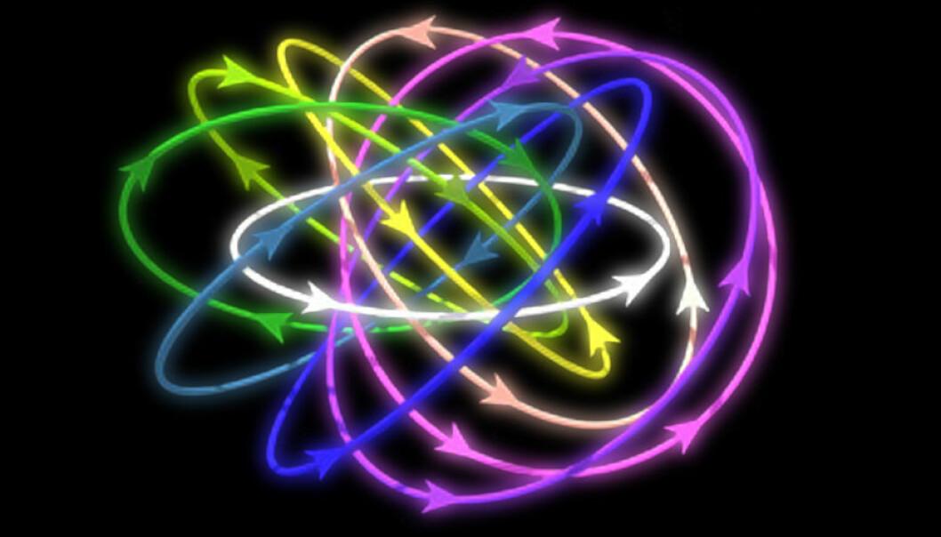 Kulelyn oppfører seg som når magnetlinjer tvinner seg i en knute. For første gang har forskere framstilt en slik knute i tre dimensjoner i en ultrakald gass. (Bilde: Fra artikkel i Science Advances av W. Lee, A.H. Gheorghe, K. Tiurev, T. Ollikainen, M. Möttönen)