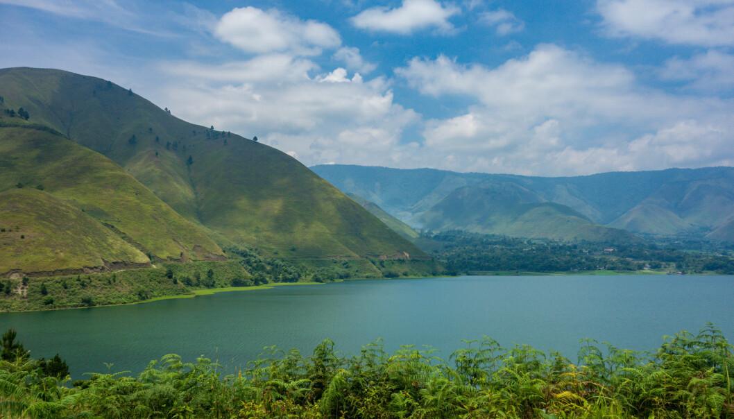Krateret etter Toba-utbruddet er i dag Tobasjøen på Sumatra.  (Foto: Visions of Domino/CC BY 2.0)