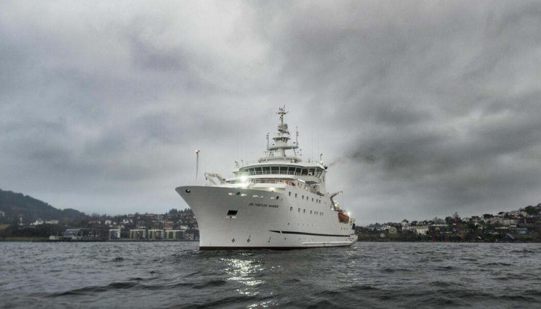Forskningsfartøyet Dr. Fridtjof Nansen blir drevet av Havforskningsinstituttet, men er eid av Norad, og utfører oppdrag i utviklingsland, på oppdrag for Norad og FN. Norge har en rekke havforskningsfartøy, men eierskapet og bruken er ulik. Flere ønsker å samle ressursene, slik at de kan utnyttes bedre. (Foto: Tor Farstad)
