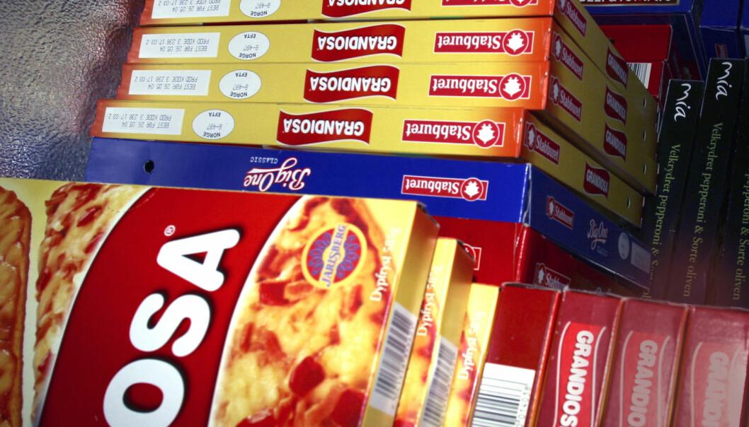 Frossenpizzaen har et høyt kaloriinnhold, men ikke mange næringsstoffer. Men har du ellers et variert kosthold, er det ikke så farlig med en pizza en gang i blant.  (Foto: Scanpix)